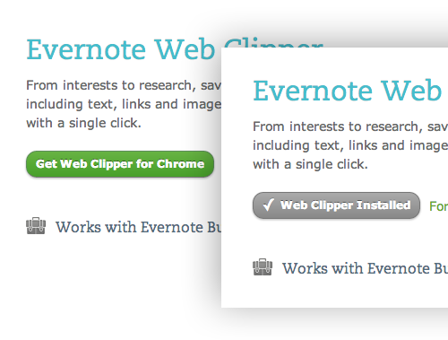Evernote microinteraction