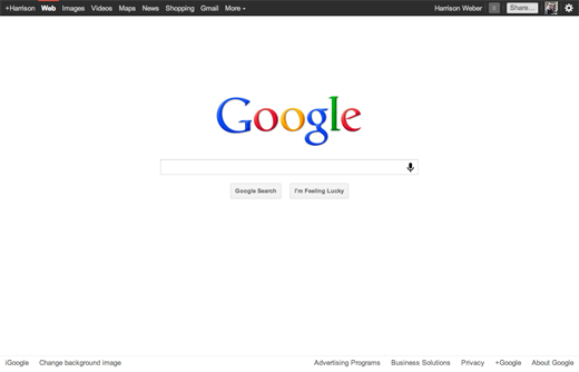 Google minimalist design