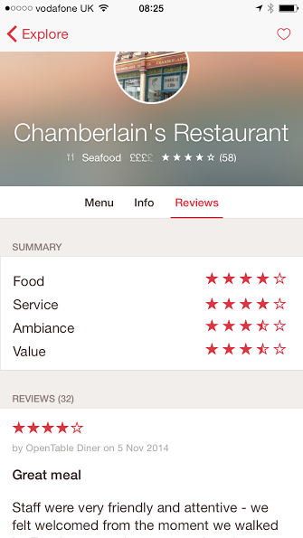 opentable competitors