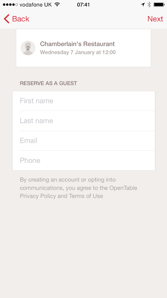 App Review OpenTable As I Learn - Open table uk